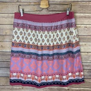 Skies Are Blue XL Boho Skirt Lined Pink Purple